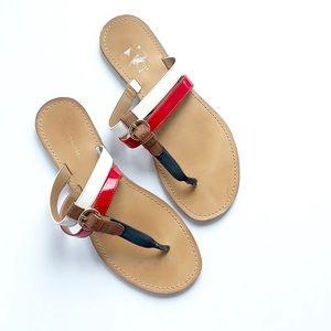 Tommy Hilfiger • USA thong flip flop sandals